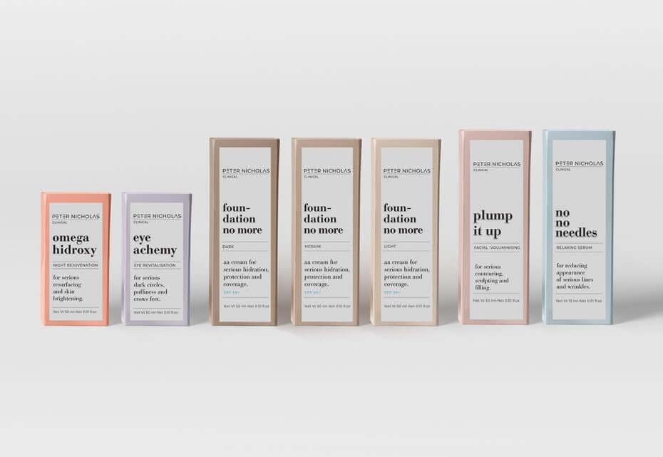 Packaging minimaliste pour cosmétique de Peter Nicholas